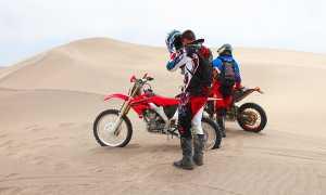 moto due deserto