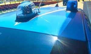 polizia auto lamperggianti giorno